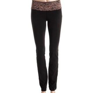 Material Girl Womens Yoga Pants Cotton Lace Trim