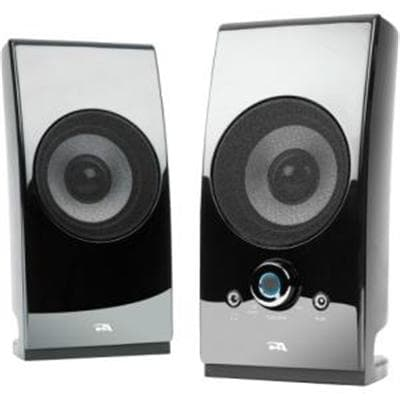 Cyber Acoustics Surround Powered Speaker System Bookshelf Home Speaker, Set Of 2, Black (Ca-2027)