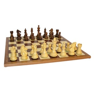 Sheesham Pro Chess Set With Sapele Board - Multicolored