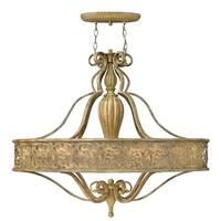 Fredrick Ramond FR44626 6-Light 1 Tier Chandelier from the Carabel Collection - Brushed Champagne