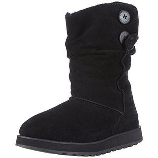 Skechers Womens Keepsakes-Freezing Temps Suede Faux Fur Winter Boots