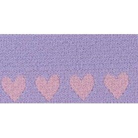 "Purple Hearts - Fold-Over Elastic 1""X1yd"