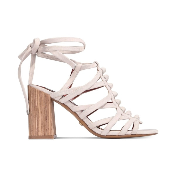 kensie Womens Sadira Leather Open Toe Casual Strappy Sandals