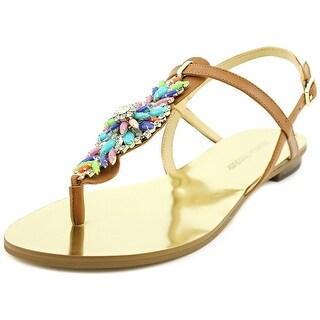Ivanka Trump Fyona Women Open-Toe Leather Multi Color Slingback Sandal