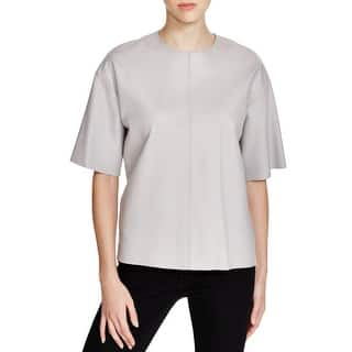 Pure DKNY Womens Petites Casual Top Lambskin Leather Casual|https://ak1.ostkcdn.com/images/products/is/images/direct/145c44aaab6b3878418d83d8cd8d4a4654ff77d6/Pure-DKNY-Womens-Petites-Casual-Top-Lambskin-Leather-Casual.jpg?impolicy=medium