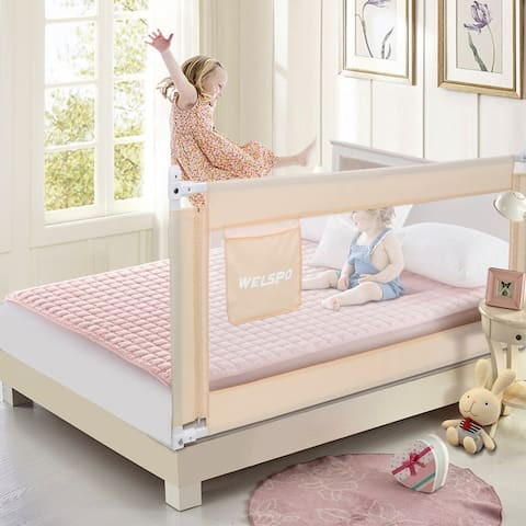 Toddler Bed Rail,70 inch Infant Baby Safety Bed Guard for Full Size Bed - S