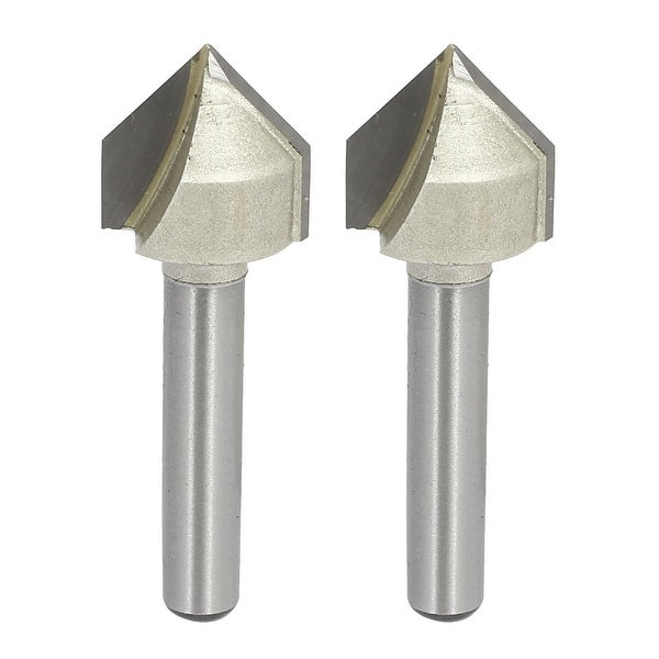 1/4-inch Shank 5/8-inch Cutting Dia V-Grooving Chamfer Router Bits Cutters 2pcs