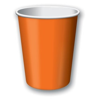 Touch Of Color 24 Count 9oz Hot/Cold Cups Sun Kissed Orange - Multi