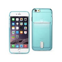 REIKO IPHONE 6 PLUS REIKO SEMI CLEAR CASE WITH CARD HOLDER IN CLEAR BLUE
