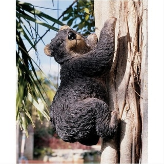 Design Toscano Yonva, the Climbing Bear Sculpture: Set of Two