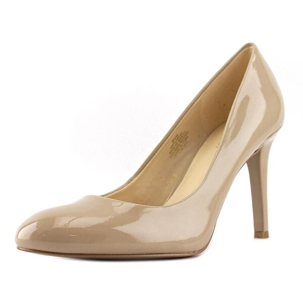 Nine West Caress Round Toe Synthetic Heels