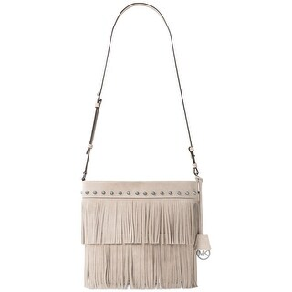 Michael Kors Womens Billy Crossbody Handbag Suede Fringe - MEDIUM
