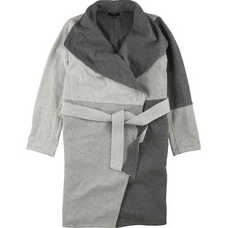 Link to Alfani Womens Colorblocked Belted Jacket Similar Items in Women's Outerwear