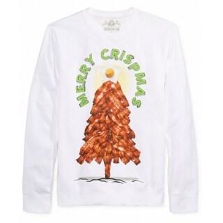 AMERICAN RAG NEW White Mens Medium M Merry Crispmas Crewneck Sweater