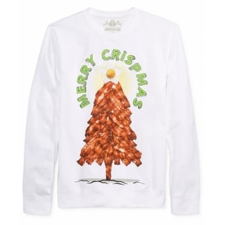 American Rag NEW White Mens Size XL Merry Xmas Tree Crewneck Sweater