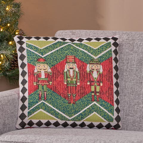 Romious Modern Fabric Christmas Throw Pillow Cover by Christopher Knight Home