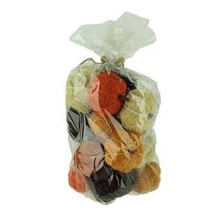Bag of Orange Brown and Beige Dried Angel Vine Decorative Pumpkins - 2.25 X 3 X 3 inches