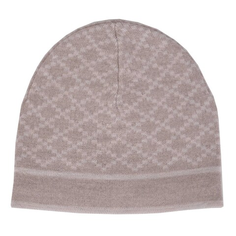 Gucci Men's 281600 Wool Diamante Camel Beige Ski Beanie Hat - One size