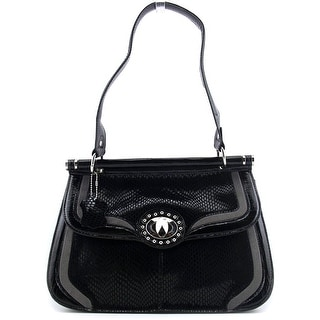 Madi Claire 5387 Women Leather Shoulder Bag - Black