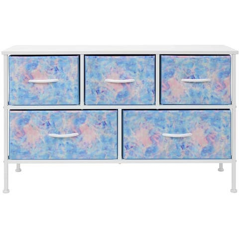 Dresser w/ 5 Drawers Furniture Storage Chest for Home, Bedroom