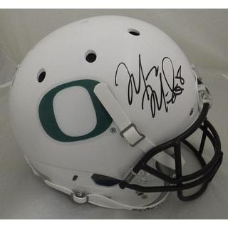 Marcus Mariota Autographed Oregon Ducks Full Size White Helmet JSA