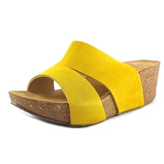 Napa Flex Toni Open Toe Suede Wedge Sandal