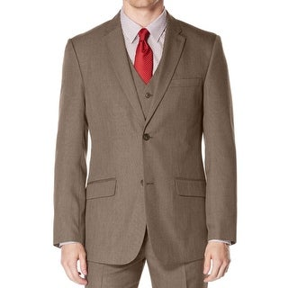 Perry Ellis NEW Brown Mens Size 38R Notch Collar Two Button Blazer