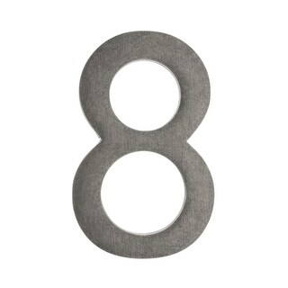Architectural Mailboxes 3585-8 5 Inch Solid Cast Hand Finished Brass House Numbers (5 options available)