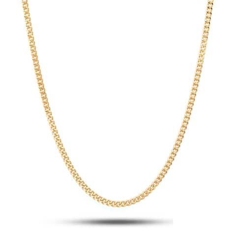 Pori 10K Yellow Gold Lightweight 050 Curb Chain Necklace