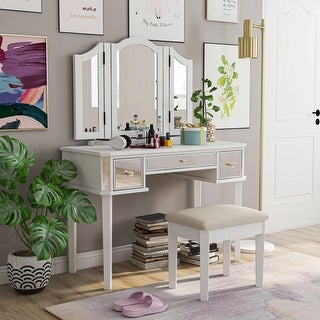 Link to Furniture of America Doa Contemporary Solid Wood 3-piece Vanity Set Similar Items in Bedroom Furniture