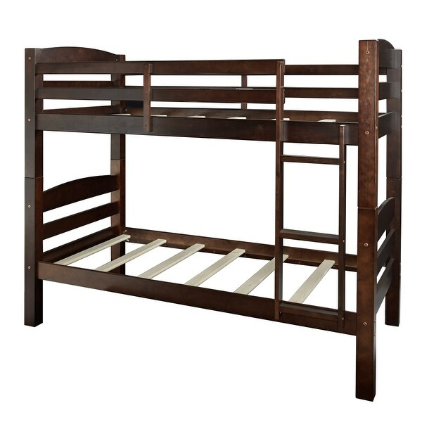 Shop Powell Home Fashions D1044y16 Levi Twin Wood Bunk Bed Frame
