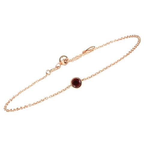 14 K Gold Birthstone Charm Bracelets for Women