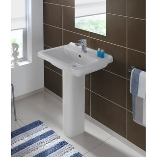 "Bissonnet Erika 55 Pedestal Pro 21-11/16"" Vitreous China Pedestal Bathroom Sink"