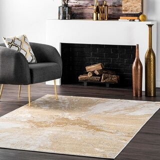 Link to Carbon Loft Brendt Contemporary Modern Abstract Area Rug Similar Items in Patterned Rugs