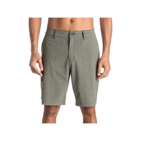 Quiksilver Mens Gruver Bermuda, Walking Shorts Heathered Casual