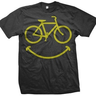 DHD Wear Men's Smiley Short Sleeve T-Shirt - smiley - grey