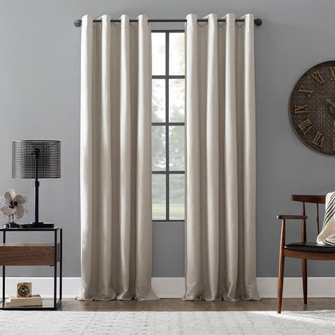 Archaeo Linen Blend Blackout Grommet Top Curtain