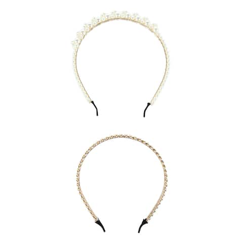 Do Everything in Love Women's Pearl and Chain Headband Set - one size