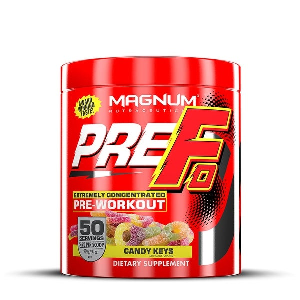 Magnum Nutraceuticals PRE-FO Pre-Workout Powder- 50 Servings - Candy Keys - Maximizes Energy - Intensity & Focus - Mood