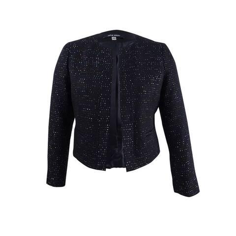 Nine West Women's Sequined Tweed Blazer - Black Multi