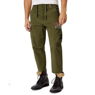 LRG NEW Green Mens Size 34X34 Cargo Camo Tapered Drawstring Pants