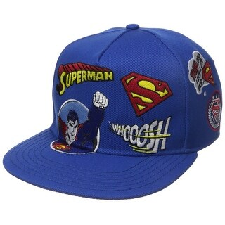 Superman Patchwork Flat Brim Adjustable Hat
