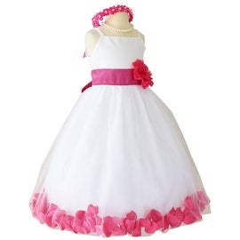 Flower Girl Dresses Rose Petal Wallao White (Baby - 14) Fuchsia Pink