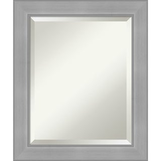 Vista Brushed Nickel Bathroom Vanity Wall Mirror