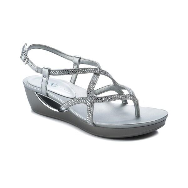 Andrew Geller Cecil Women's Sandals & Flip Flops Silver