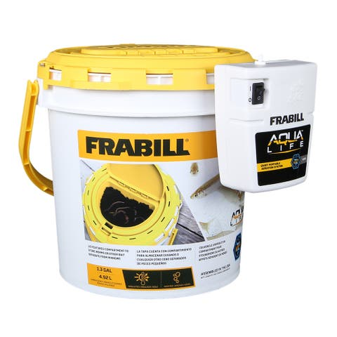 Frabill duel fish bait bucket with clip on aerator