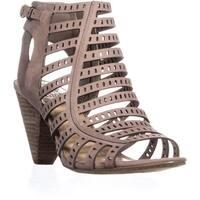Vince Camuto Evalina Perforated Zip Up Sandals, Vanilla - 9.5 us / 41 eu