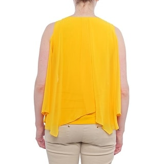 Thalia Sodi Cartagena Cold-Shoulder Necklace Blouse Women Regular Blouse