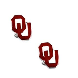 Oklahoma Sooners Post Stud Logo Earring Set NCAA Charm