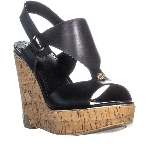 363502e76f8 Shop GUESS Hulda Wedge Peep Toe Sandals